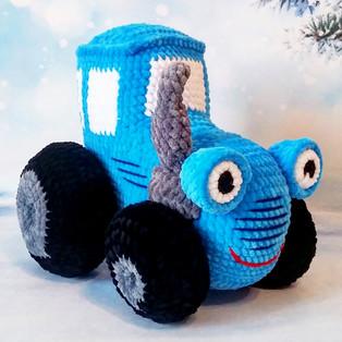 PDF Синий трактор схема вязаной игрушки крючком