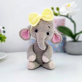 PDF Слонёнок схема вязаной игрушки крючком