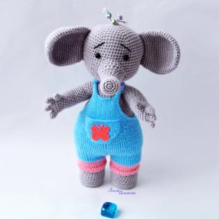 PDF Слонёнок Тома схема вязаной игрушки крючком