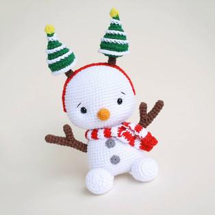 PDF Снеговичок схема вязаной игрушки крючком
