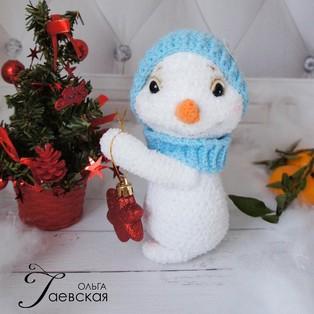 PDF Снеговик Снежок схема вязаной игрушки крючком