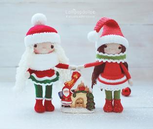 PDF Снежные девчонки схема вязаной игрушки крючком