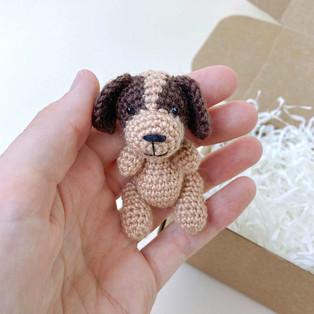 PDF Собачка схема вязаной игрушки крючком
