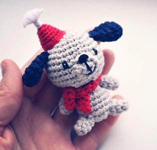 PDF Собачка-малыш схема вязаной игрушки крючком
