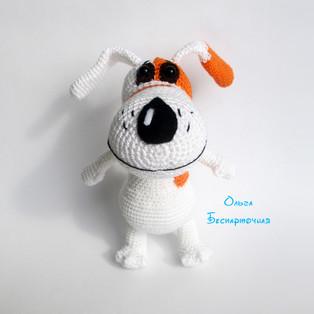 PDF Собачка Соня схема вязаной игрушки крючком