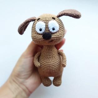 PDF Собачка Тимка схема вязаной игрушки крючком