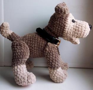 PDF Собака схема вязаной игрушки крючком
