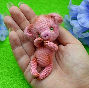 PDF Свинка схема вязаной игрушки крючком
