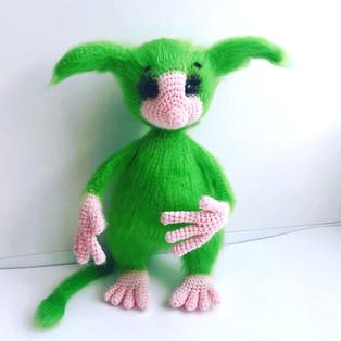 PDF Тоска зелёная схема вязаной игрушки крючком