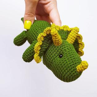 PDF Трицератопс схема вязаной игрушки крючком