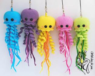 PDF Весёлые медузы схема вязаной игрушки крючком