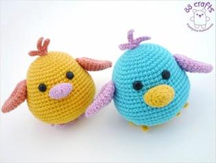 PDF Забавные птички схема вязаной игрушки крючком