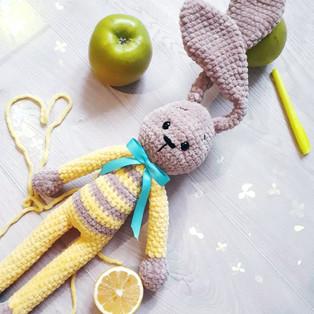 PDF Зайка схема вязаной игрушки крючком