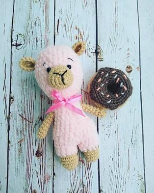 PDF Зефирная мини овечка схема вязаной игрушки крючком