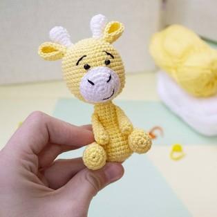 PDF Жираф схема вязаной игрушки крючком