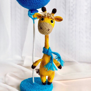 PDF Жирафик схема вязаной игрушки крючком
