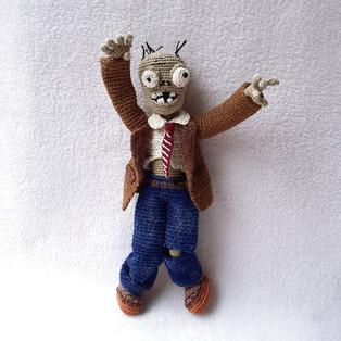 PDF Зомби схема вязаной игрушки крючком